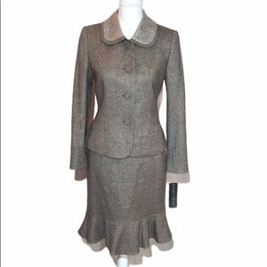 Albert Nipon Tweed Silk Wool Blend Skirt Suit 4